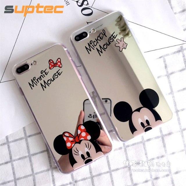 Mickey Mouse Spiegel.Us 2 83 Suptec Leuke Cartoon Mickey Mouse Spiegel Telefoon Case Voor Iphone 8 7 6 S 6 Plus 5 S Zachte Siliconen Capinhas Cover Voor Iphone 7 6 Coque