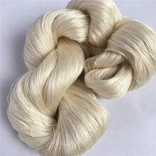 Fio de seda cru branco natural 50g/hank do fio de seda da amoreira do fio de seda 120nm/2 100% não tingido