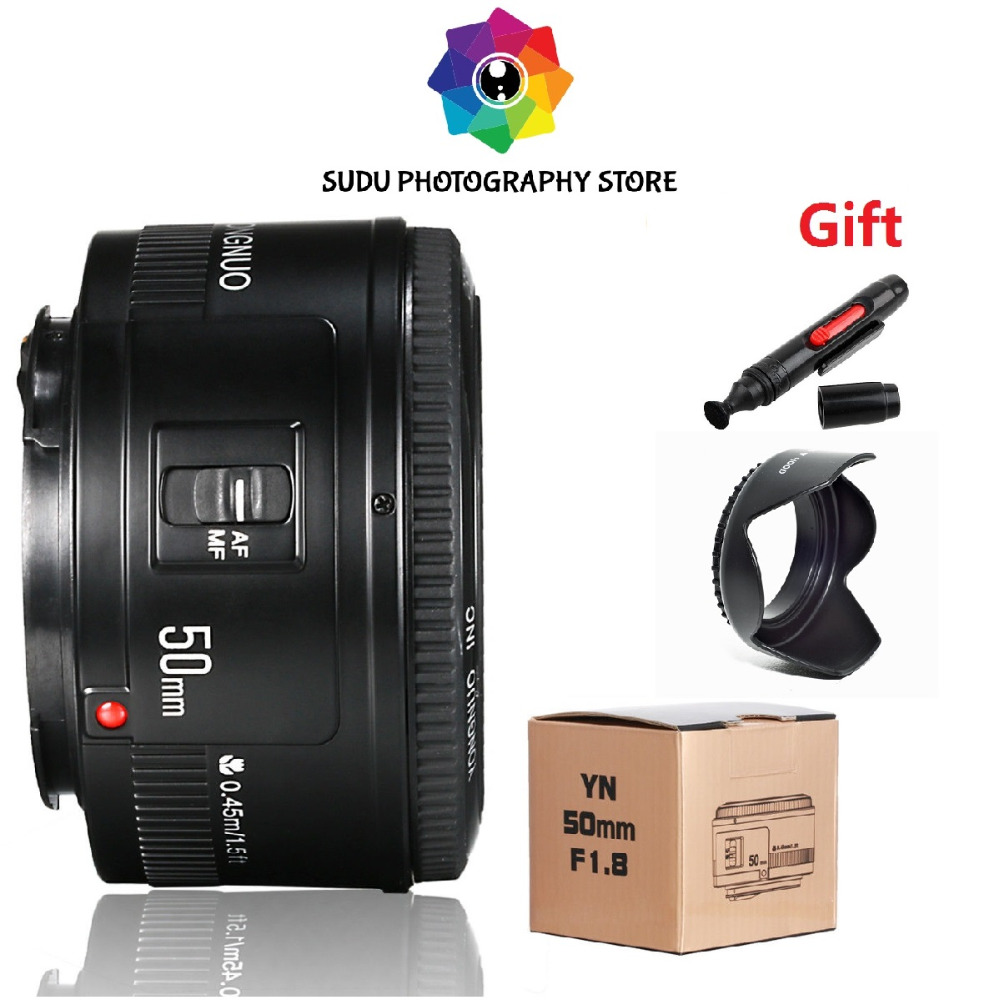 YONGNUO speedlite YN 50 MM EF F/1,8 de enfoque de la lente para Canon EF montaje de la lente