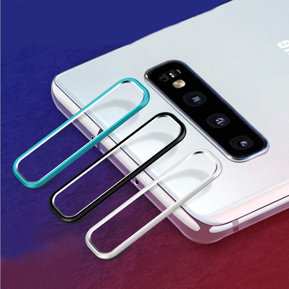 Ascromy For Samsung Galaxy S10 Note 10 Plus 10+ S10+ Camera Metal Guard Circle Protective film Screen protector cristal templado