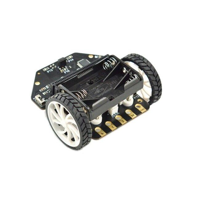 Micro: Maqueen Smart Car V4.0 Version pour micro: bit programmation graphique Robot plate forme Mobile (sans micro: carte de bits)