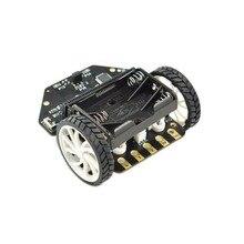 Micro: Maqueen Smart Car V4.0 versión para micro:bit plataforma móvil de programación gráfica Robot (sin micro:bit Board)