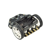 Micro: Maqueen Smart Car for micro:bit Graphical Programming Robot Mobile Platform (without micro:bit Board), for Kids Education waveshare starter robot for kids kitibot mg w kitibot mega2560 controller board graphical programming 2wd version toy car