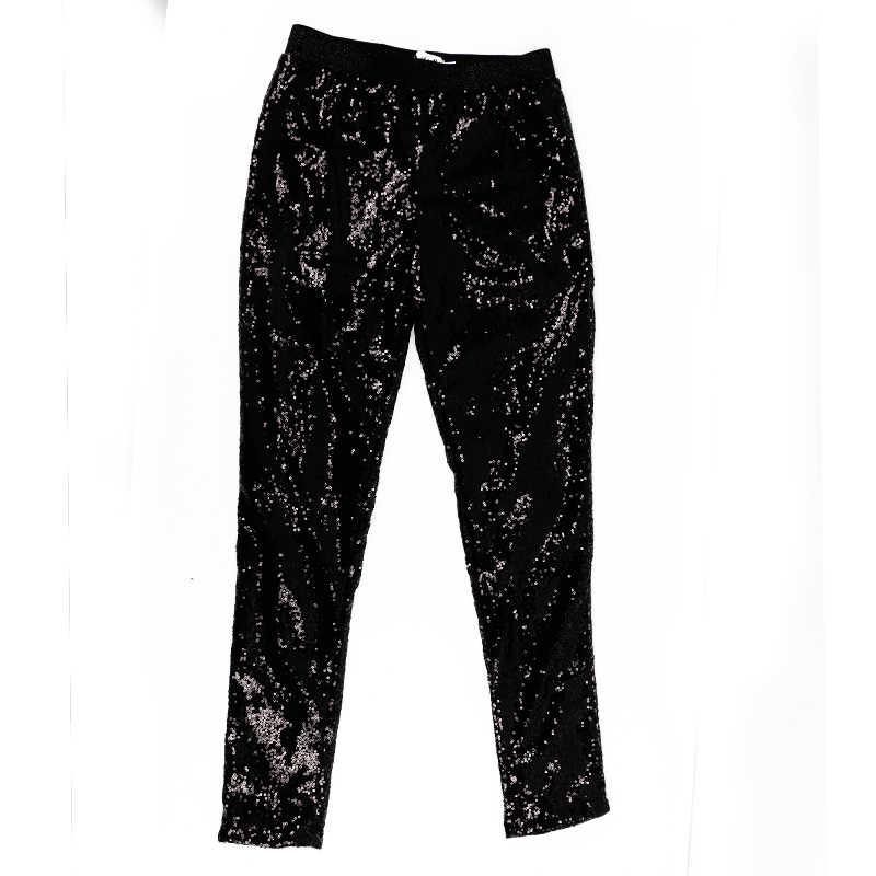Women gold silver black sequins leggings pants big yards entire Europe and America fashion Feminina Slim thin buttock leggins