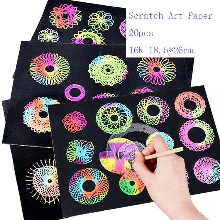 Купить с кэшбэком Children Spirograph Drawing Toys Set Accessory Magic Creative Spiral Sketchpad Kid Boy Girl Learning Educational Art Craft Gift
