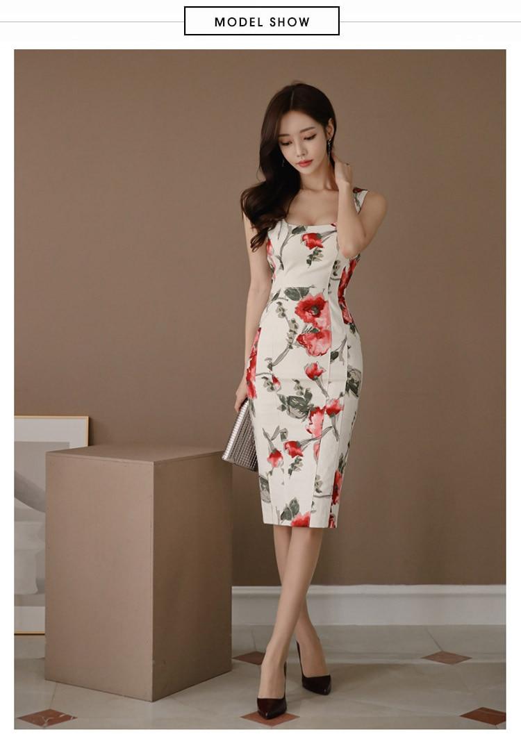 d67f26c3be41f76 2019 новое летнее платье-футляр без рукавов с квадратным вырезом ...