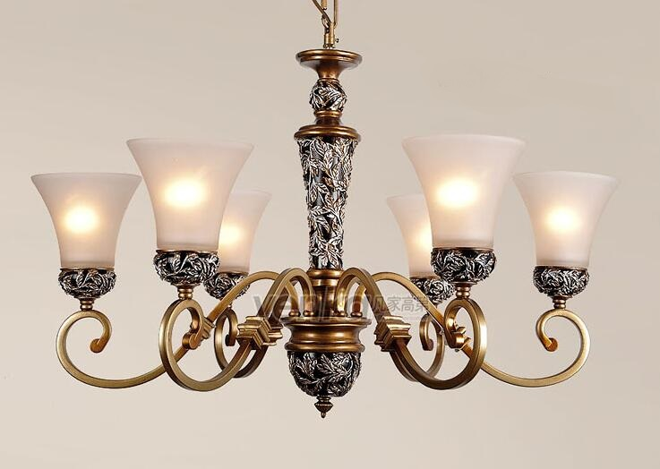 Fashion living room  Multiple Chandelier EMS FREE SHIPPING light lighting vintage classic lamps ZZP chandelier fashion classical bronze color antique vintage lighting merlons living room chandelier light study light