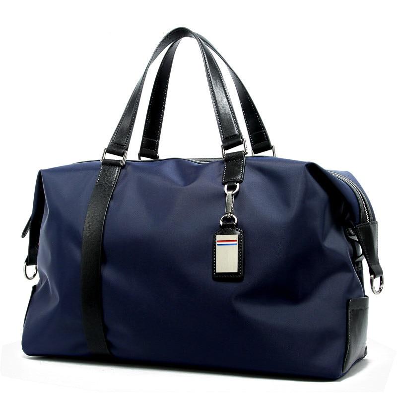 Mens Travel Bag Portable Exercise Bags Folding Korean Mens Bag Waterproof Oxford Boarding Bags