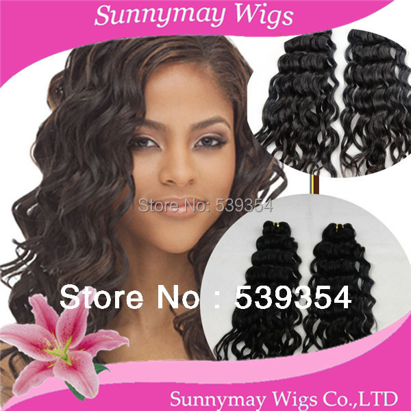 Stock cheap brazilian virgin Human Hair weft loose wave crochet human hair extension on sale