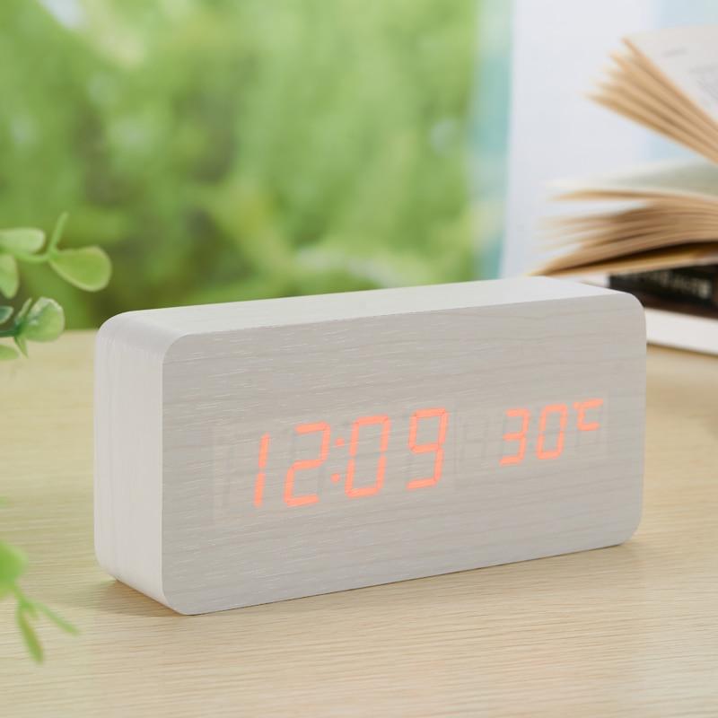 LED-Wecker aus Holzplatine + Temperaturthermometer Digitale - Wohnkultur - Foto 5
