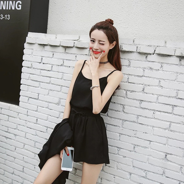 Summer casual short sleeve solid color short pants suit