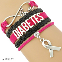 High Quality Hope Ribbon Cure OMS Dementia HS Diabetes Diabetic Warrior Awareness Bracelets