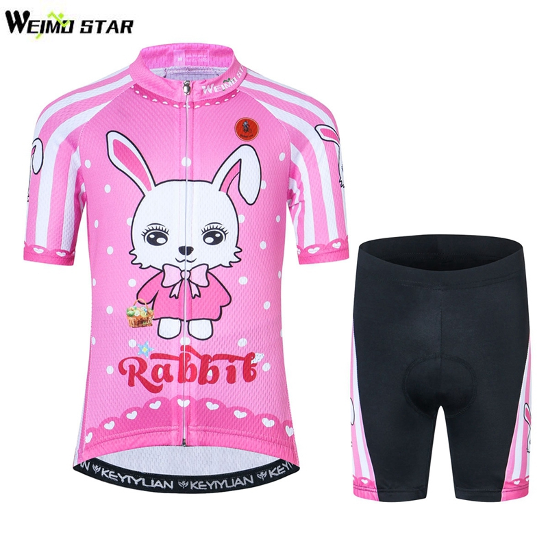 Kids Cycling Clothing Children Bike Jersey Shorts sets Bicycle Top Ropa Ciclismo Boy mtb Shirts Suit Pink S-XXL children s bicycle kids balance bike ride on toys for kids four wheels child bicycle carbon steel bike for children 1 2 years