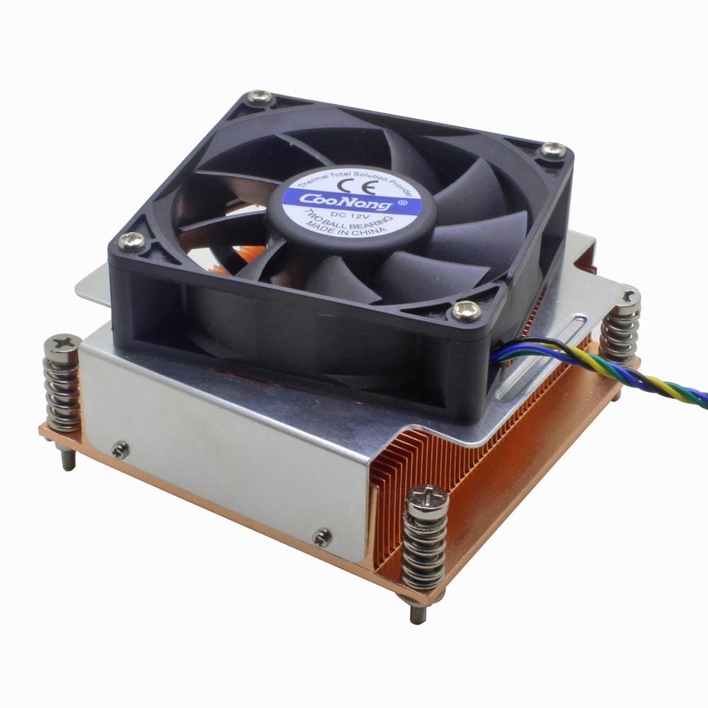 2U Server CPU Cooler Copper Heatsink Radiator 7020 Cooling fan For Intel Xeon LGA 1366 1356 Industrial Computer Active Cooling2U Server CPU Cooler Copper Heatsink Radiator 7020 Cooling fan For Intel Xeon LGA 1366 1356 Industrial Computer Active Cooling
