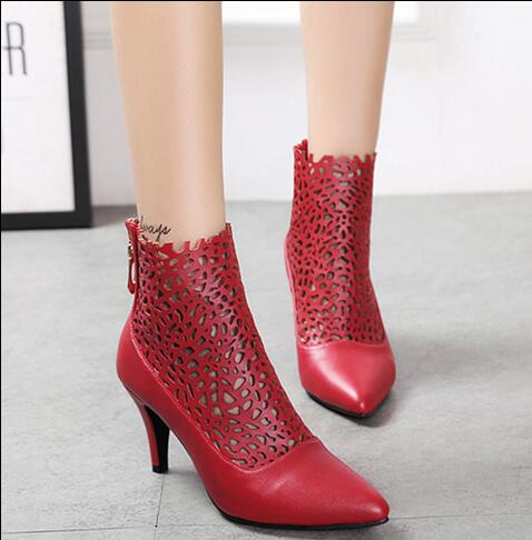 2017 superstar love most woman shoes stiletto high heels red and black color for your selection  back zipper closure type