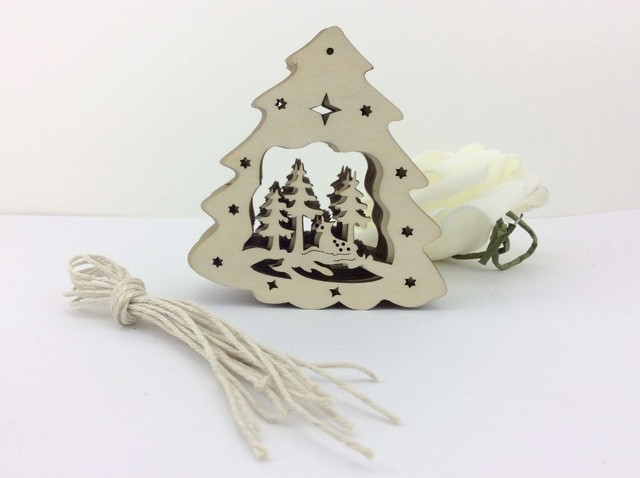 Free Shipping China Factory Nice Table Wood Christmas Ornaments Patterns Crafts