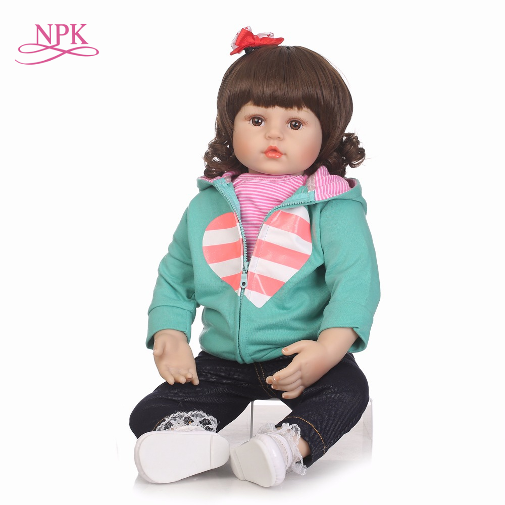 NPK 57cm bebes reborn girl soft Body Silicone Reborn Baby Doll Toy Newborn baby Princess Toddler Doll girls gift Toys bonecasNPK 57cm bebes reborn girl soft Body Silicone Reborn Baby Doll Toy Newborn baby Princess Toddler Doll girls gift Toys bonecas