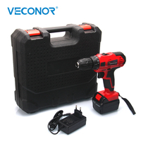 21V 42N.m Electric Cordless Battery Screwdriver Mini Impact Drill Power Tools Rotary Tool Accessories