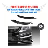 Carbon Fiber CLA Car Front Lamp Decorations For Benz Auto Front Lamp Molding Trim For Benz
