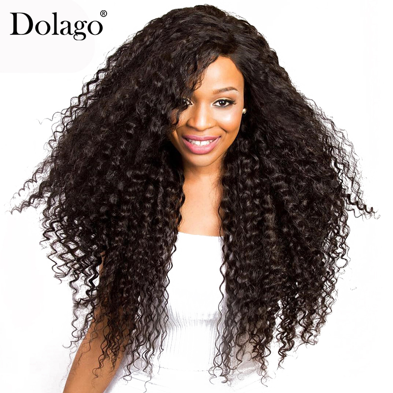 Aggressive 250% Density Lace Front Wig Pre Plucked With Baby Hair Curly Brazilian Virgin Human Hair Wigs For Women Natural Black Dolago Clear-Cut Texture Human Hair Lace Wigs