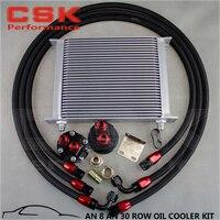 30 linha an-8/an8 refrigerador de óleo da transmissão do motor + kit de recolocação do filtro preto