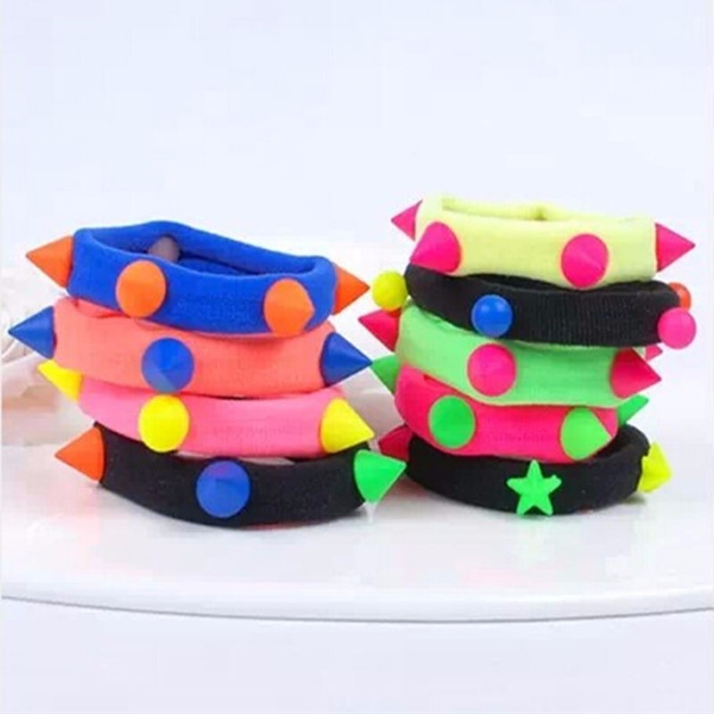 10x Lot Children Elastic Hair Band Candy Color Headbands Ropes Girls Headwear SK