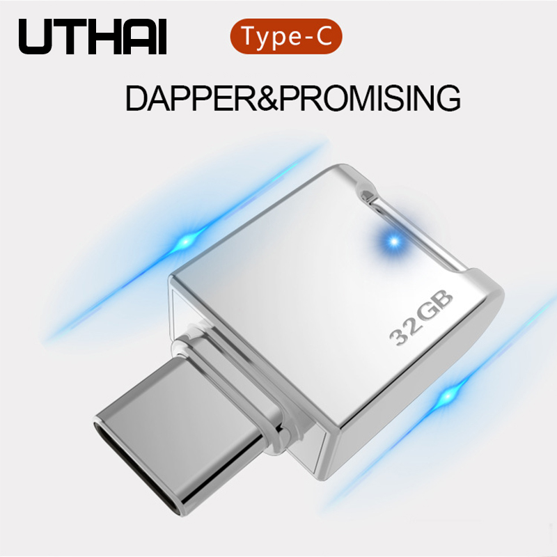 cheapest UTHAI C12 Type-C OTG USB3 0 Flash Drive USB-C Pen Drive Smart Phone Memory MINI Usb Stick 32GB 64G