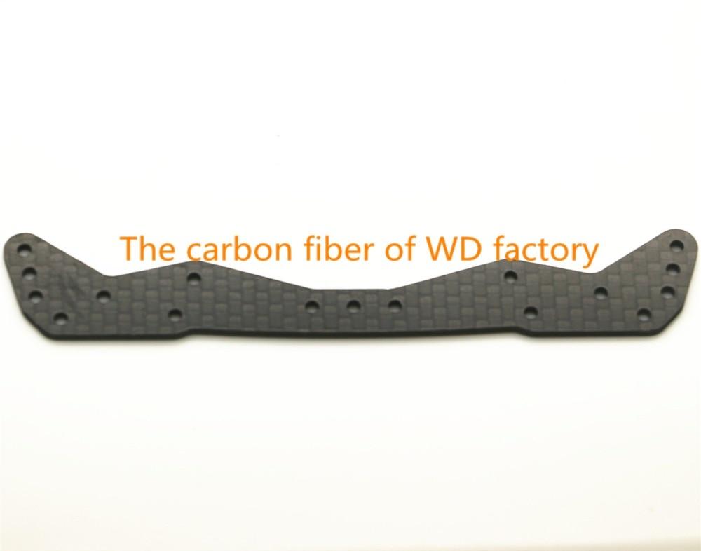RFDTYGR RC Mini 4wd широка предна плоча 1.5 mm въглеродни влакна части за Tamiya MINI 4WD въглеродни влакна компоненти C011 2Pcs / lot