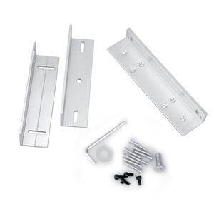 Image 4 - 180kg/280kg Magnetic lock U /L / LZ shape bracket 350lbs/600lbs frameless glass door for Access Control Security lock System