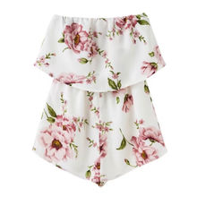 Strapless Playsuit with Floral Print