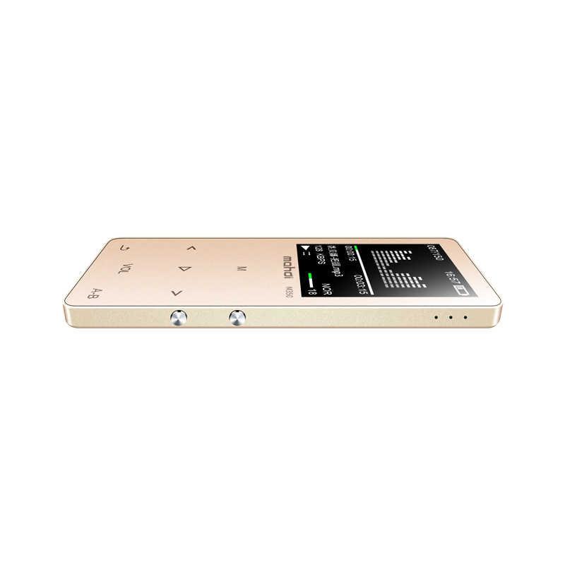 Bluetooth MP4, wbudowany w głośniki metalowe hifi przenośny mp3 odtwarzacz muzyczny e-book nagrywanie głosu fm radio odtwarzacz wideo