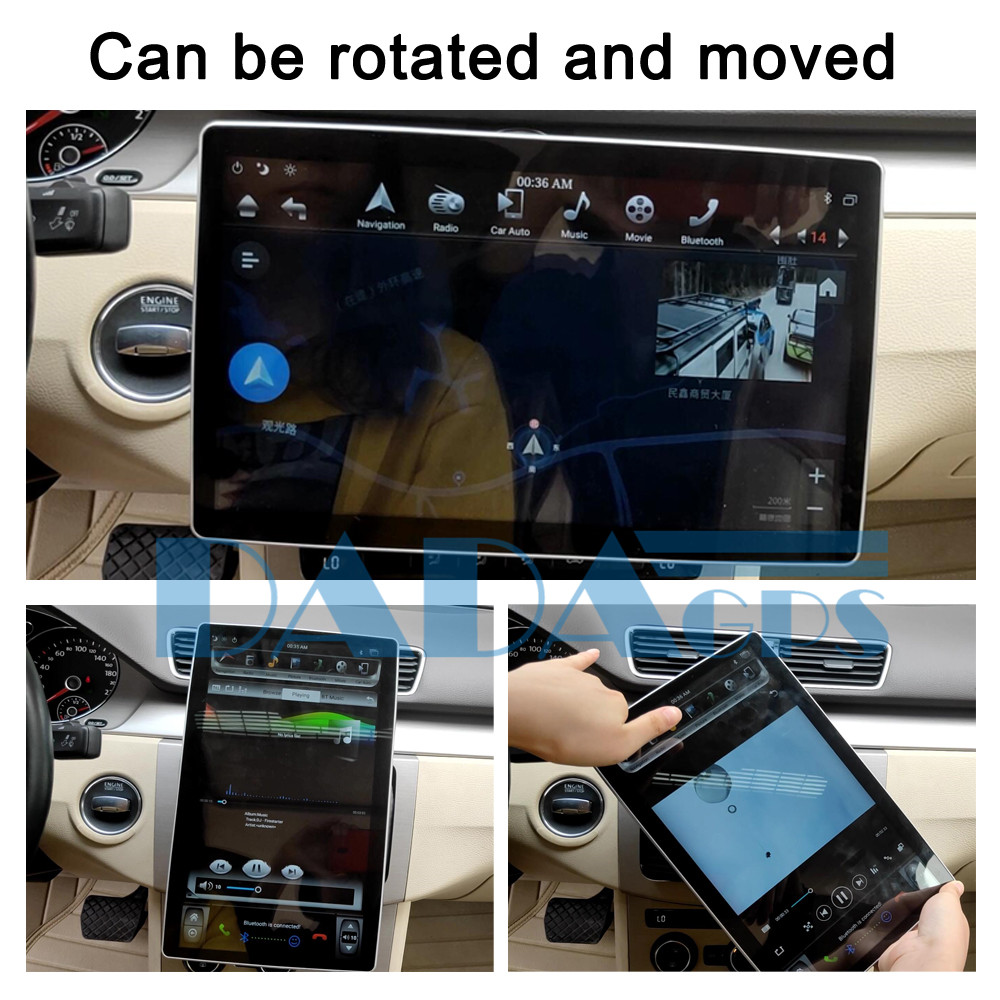 Stereo Car Multimedia Player <font><b>2</b></font> <font><b>Din</b></font> universal For Ford Explorer Mustang kuga fiesta <font><b>Android</b></font> PX6 Tesla Radio <font><b>GPS</b></font> Navi Head unit image