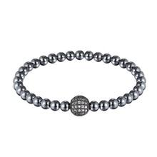 JAAFAR, модный бренд, CZ, черный шар, мужской браслет, натуральный матовый камень, шарик, очаровательный браслет, мужские ювелирные изделия для йоги AS291