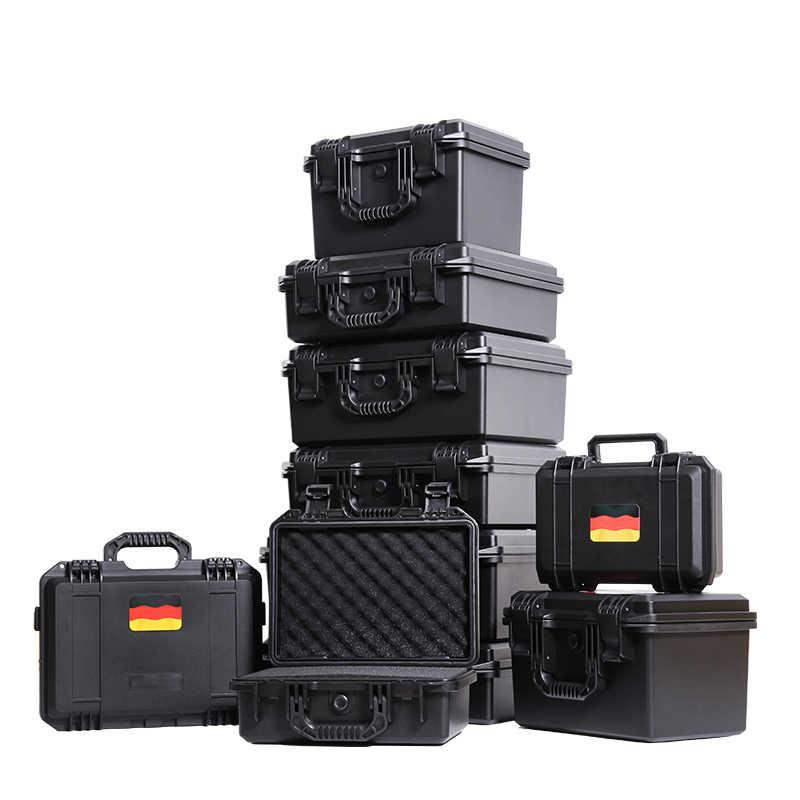 ツールケーススーツケースプラスチック密封された防水安全保護機器ケースポータブルツールボックスドライボックス屋外機器