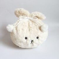 Rabbit Plush Pillows turn into Blanket Soft Warm Plush Shawl Lamb hair Plush multifunctional pillow Become Flannel Blanket