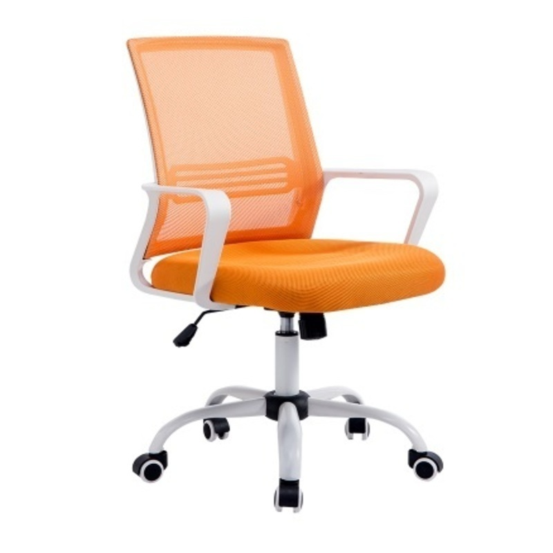 WB#3210 Simple computer home office cloth bow conference swivel staff dormitory chess mahjong chair 240337 ergonomic chair quality pu wheel household office chair computer chair 3d thick cushion high breathable mesh