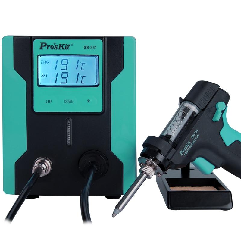 Pro'sKit SS-331H ESD LCD numérique pompe à dessouder électrique BGA dessouder aspiration vide soudure ventouse pistolet