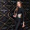 2017 New Bandage Jumpsuits Women Black Cross Long Sleeve O Neck Full Length Celebrity Sexy Beading