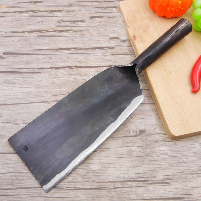 New Chinese Style Shot Steel Handmade Forged Strong Cutter Big Bone Knives Tree Firewood Knife Chopper Axe Chef Butcher Knives