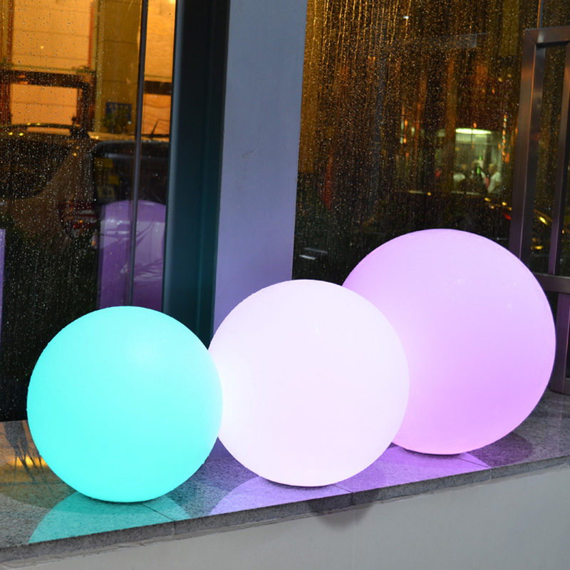 Dia50CM 16-color LED Ball Lamp Remote Control RGB Light Sphere Romantic Wedding Night Party Christmas Home Decorative Lighting