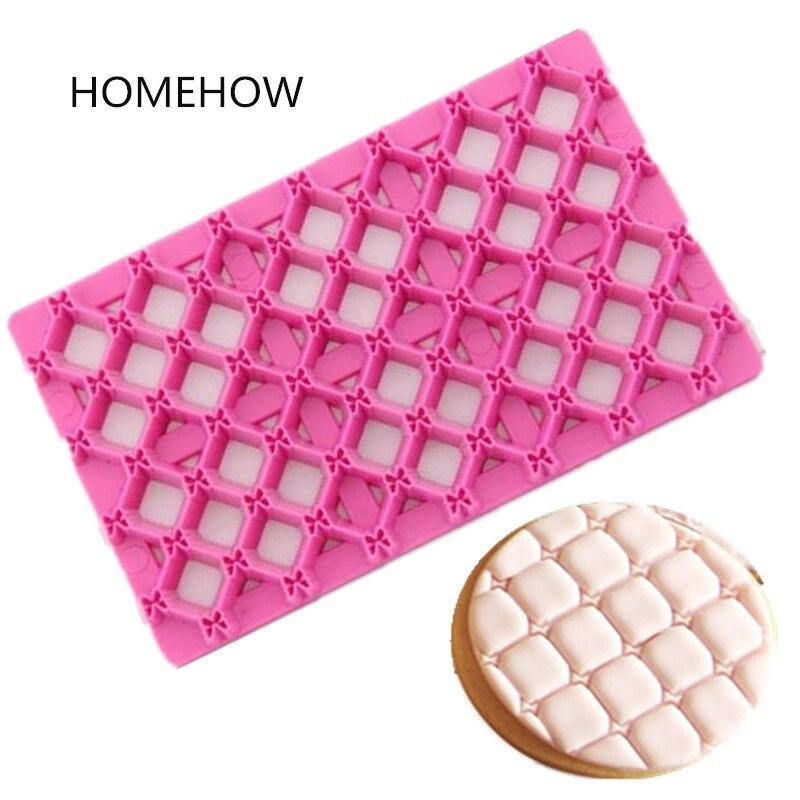 1PC / 로트 활 매듭 쿠키 우표 도구 12.5 * 7.3cm 플라스틱 활 넥타이 컵케익 비스킷 쿠키 프레스 인쇄 엠보싱 금형 굽기 도구