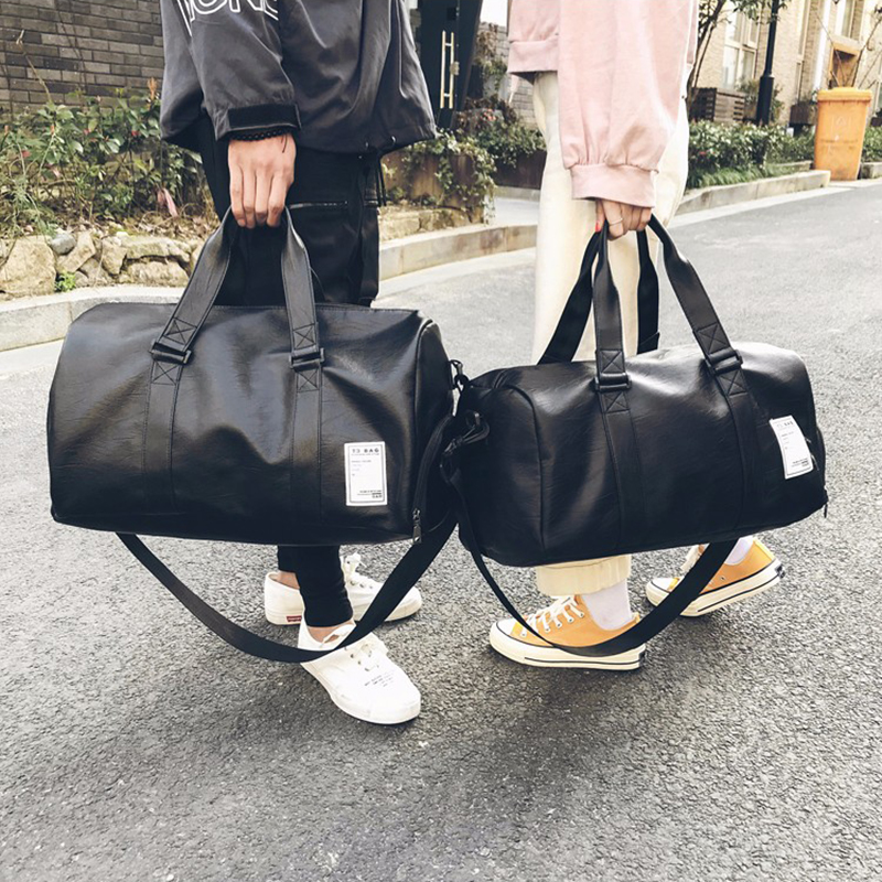 Bomlight 2018 Quality Travel Bag PU Leather Couple Travel Bags Hand Luggage For Men And Women New Fashion Duffle Bag Travel