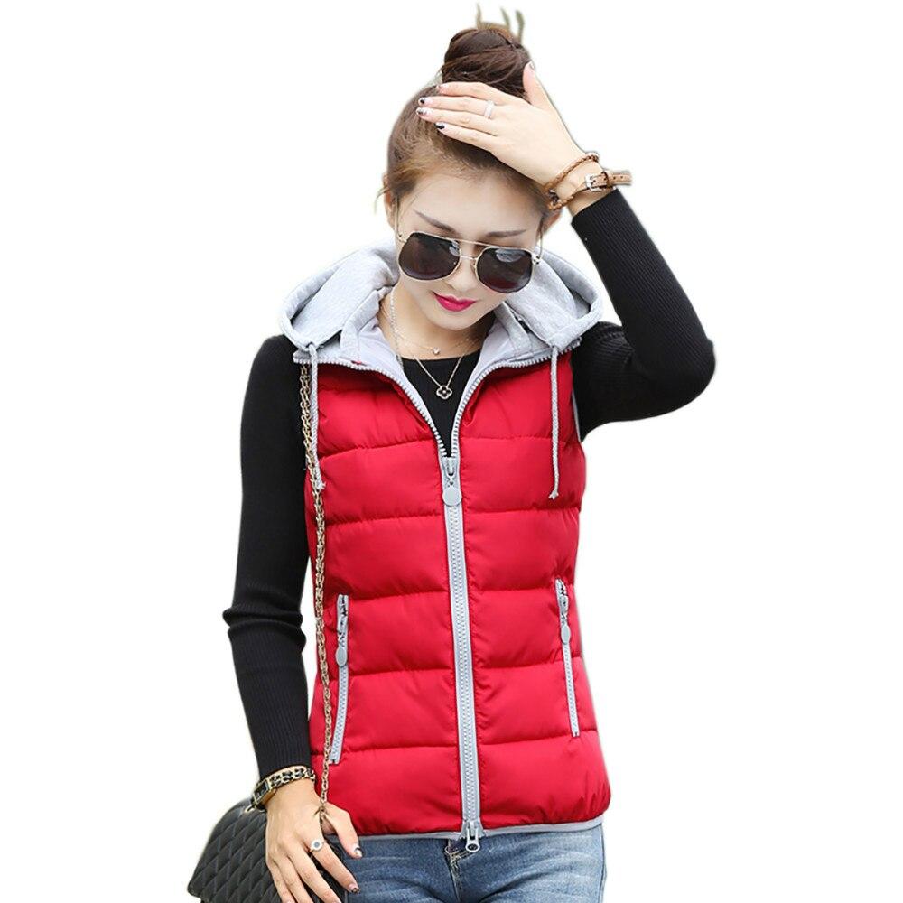 Tengo Dámská vesta s kapucí Bavlněná vesta podzim a zima Nové štíhlé ženské modely Spodní vesta Teplá bunda a svrchní oděvy