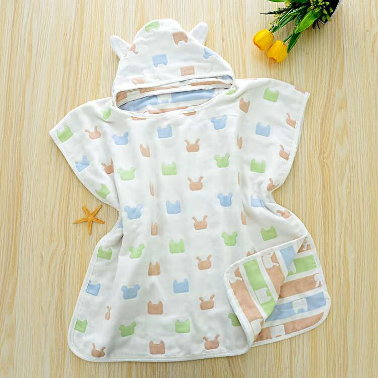 100% Cotton Character Kids Baby Children Hooded Bath/Beach/Pool Towel, 25.6 x25.6 )65x65cm