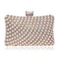 Hot Selling Women Handbags Beaded Rhinestones Purse Evening Bags Messenger Lady Pearl Diamonds Clutches Bags