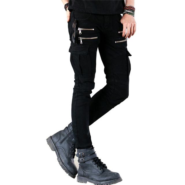 2019 Men'S Jeans Casual Biker Jeans Fashion Design Skinny Hiphop Men Pants 29-36