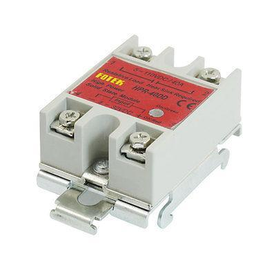 40Amps Temperature Control Solid State Relay w DIN Rail HPR-40DD normally open single phase solid state relay ssr mgr 1 d48120 120a control dc ac 24 480v