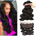 Brazilian Virgin Hair With Frontal Closure 13 x4 Body Wave Ear to Ear Lace Frontal Closure With Bundles Body Wave Human Hair