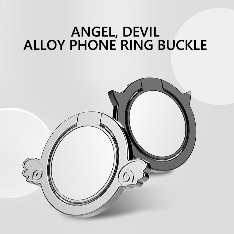 Lovely Angel Phone Finger Ring Buckle Phone Car Holder 360 Degree Rotation Metal Stand Zinc Alloy Plate for iphone X Samsung