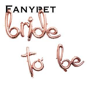 Image 4 - 1/5pcs יהלומי טבעת רדיד בלון 22 אינץ עלה זהב כלה להיות בלון מכתב בלון כלה מקלחת חתונה אירוסין קישוט